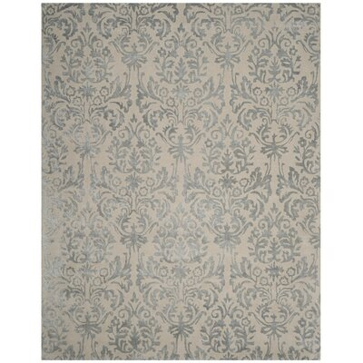 Mcguire Hand-Tufted Ivory/Silver Area Rug Rug Size: Rectangle 8 x 10
