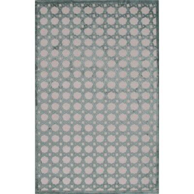 Cassidy Light Gray/Beryl Green Area Rug Rug Size: 5 x 76