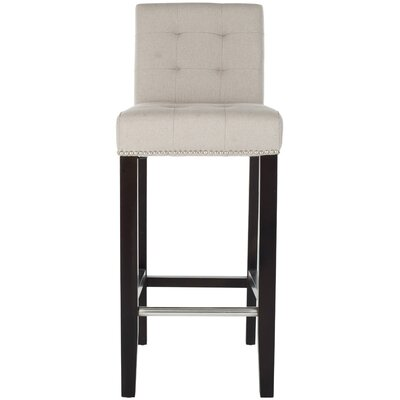 Rhona 30 Linen Bar Stool Upholstery: Cream Linen