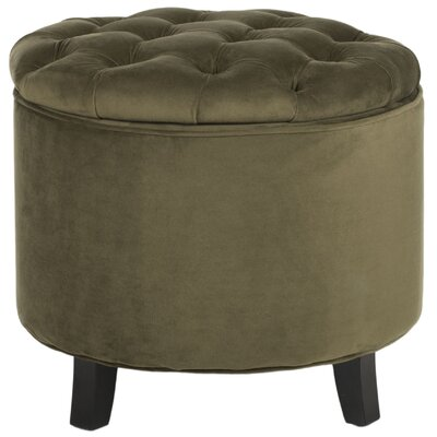 Hargrave Tufted Storage Ottoman Upholstery: Spruce