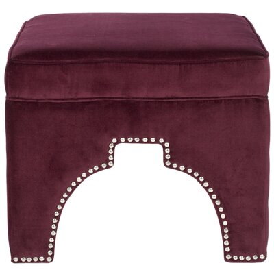 Claribel Storage Ottoman Upholstery: Bordeaux