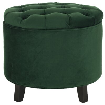Hargrave Tufted Storage Ottoman Upholstery: Emerald