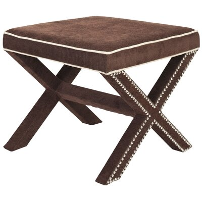 Morrison Ottoman Upholstery: Chocolate Brown