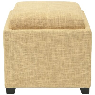 Brandon Cube Ottoman Upholstery: Gold