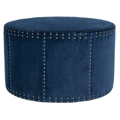 David Ottoman Upholstery: Navy