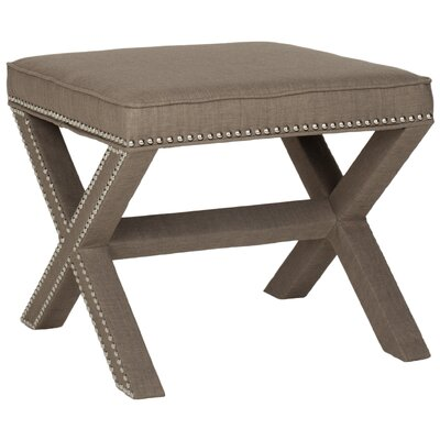 Morrison Wood Ottoman Upholstery: Olive