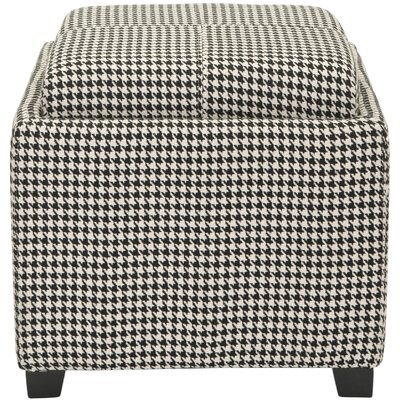 Spacey Single Tray Storage Ottoman Upholstery: Hounds Tooth