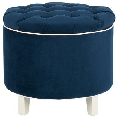 Hargrave Tufted Storage Ottoman Upholstery: Navy