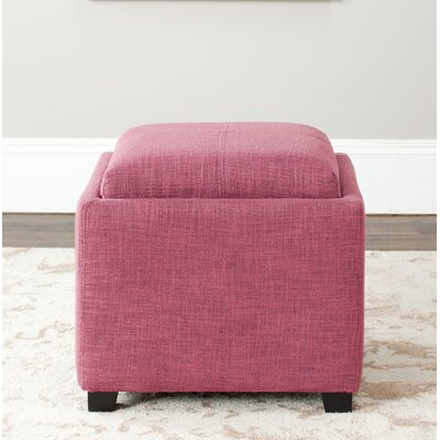 Spacey Single Tray Storage Ottoman Upholstery: Rose