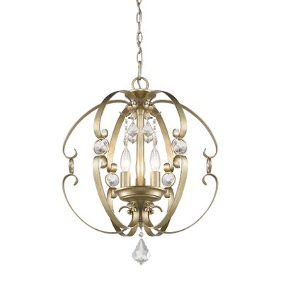 Hardouin 3-Light Foyer Pendant Finish: White Gold