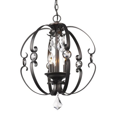 Hardouin 3-Light Foyer Pendant Finish: Bronze