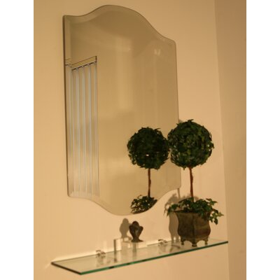 Cromer Downwards Beveled Frameless Mirror Size: 30 H x 22 W