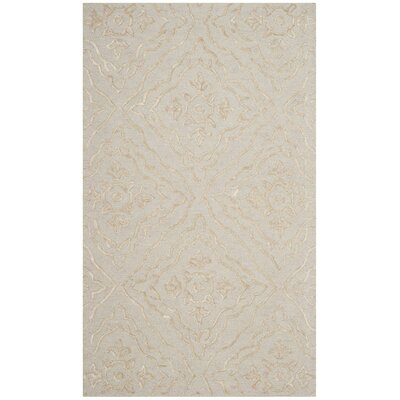 Bilbania Hand-Tufted Gold/Taupe Area Rug Rug Size: Rectangle 3 x 5