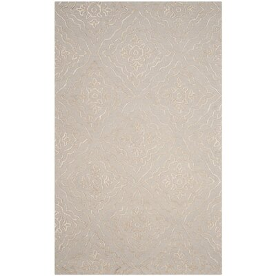 Bilbania Hand-Tufted Gold/Taupe Area Rug Rug Size: Rectangle 5 x 8