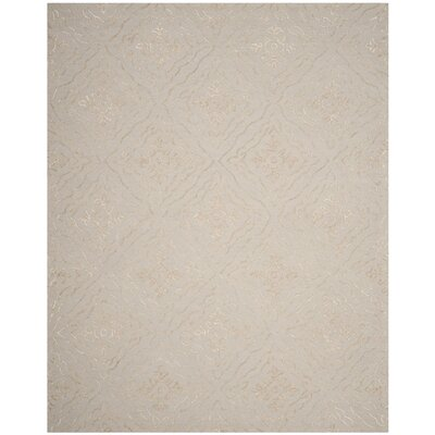 Bilbania Hand-Tufted Gold/Taupe Area Rug Rug Size: Rectangle 8 x 10