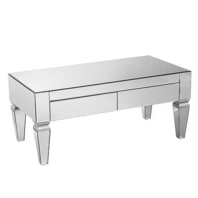 Kacie Mirrored Rectangular Coffee Table
