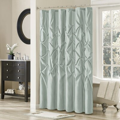 Benjamin Shower Curtain Color: Sage, Size: 72 H x 72 W