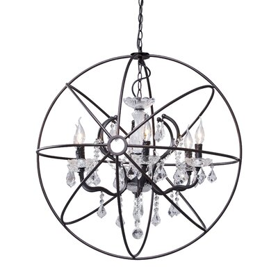 Holly 6-Light Crystal Chandelier