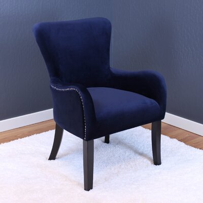 Basalt Velvet Arm Chair Upholstery: Ink Navy