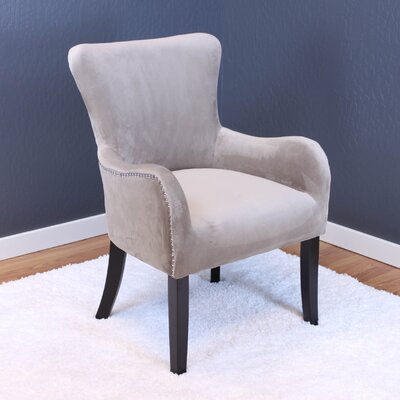 Kaat Velvet Wing back Chair Upholstery: Taupe
