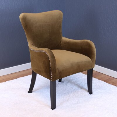 Kaat Velvet Wingback Chair Upholstery: Brown Sugar