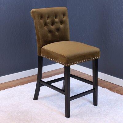 Erling Velvet Counter 26 Bar Stool Upholstery: Brown Sugar