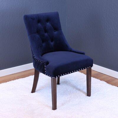 Aldeburgh Velvet Parsons Chair Upholstery: Ink Navy