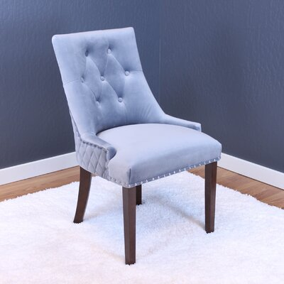 Chambers Velvet Parsons Chair Upholstery: Sharkfin Gray