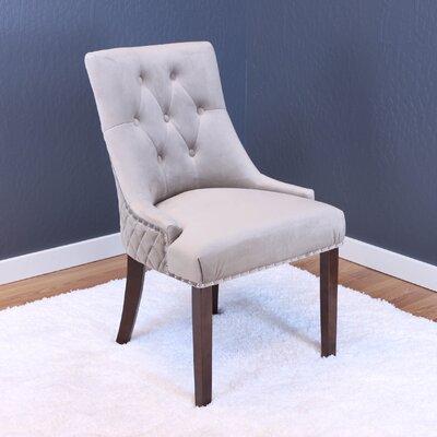 Aldeburgh Velvet Parsons Chair Upholstery: Taupe