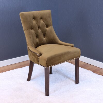 Chambers Velvet Parsons Chair Upholstery: Brown Sugar