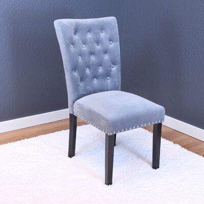 Coldale Velvet Parsons Chair Upholstery: Sharkfin Gray