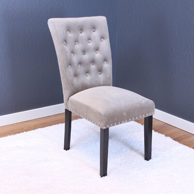 Coldale Velvet Parsons Chair Upholstery: Taupe