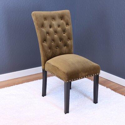 Erling Velvet Parsons Chair Upholstery: Brown Sugar