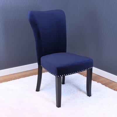Basalt Velvet Dining Side Chair Upholstery: Ink Navy