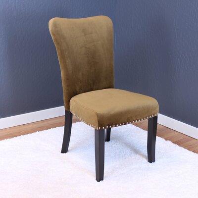 Basalt Velvet Dining Side Chair Upholstery: Brown Sugar