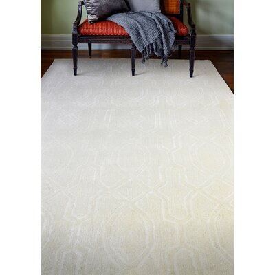 Lessines Hand-Tufted Snow Area Rug Rug Size: 76 x 96