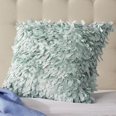 Tonnele Ruffle Throw Pillow Size: 18 H x 18 W x 4 D, Color: Sea Foam, Fill: Down