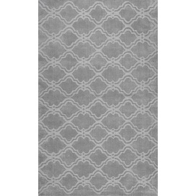 Cherelle Hand-Woven Gray Area Rug Rug Size: Rectangle 76 x 96