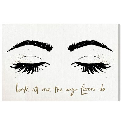 Look at Me Graphic Art on Wrapped Canvas Size: 10