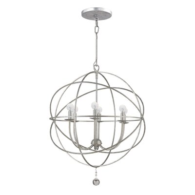 Bridger 6-Light Candle-Style Chandelier Finish: Olde Silver, Size: Small
