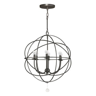 Gregoire 6-Light Candle-Style Chandelier Finish: English Bronze, Size: Small