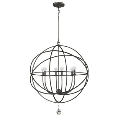 Gregoire 6-Light Candle-Style Chandelier Finish: English Bronze, Size: Large