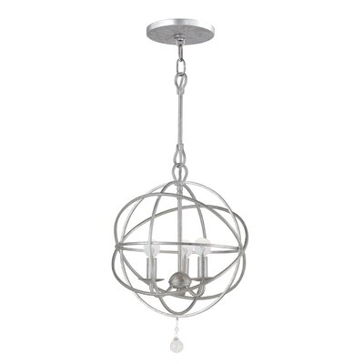 Gregoire 3-Light Mini Chandelier Finish: Olde Silver