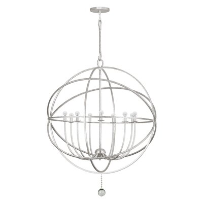 Gregoire 9-Light Candle-Style Chandelier Finish: Olde Silver