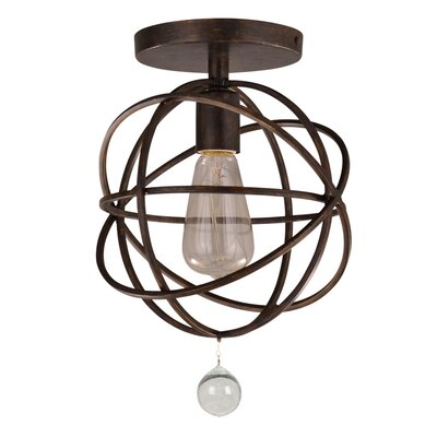 Gregoire 1-Light Semi-Flush Mount Finish: English Bronze