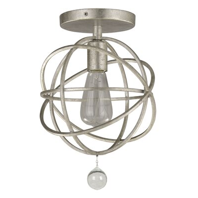 Gregoire 1-Light Semi-Flush Mount Finish: Olde Silver