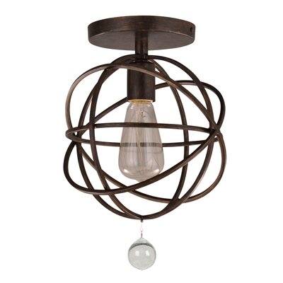 Gregoire�1�Light Semi Flush Mount Finish: Bronze