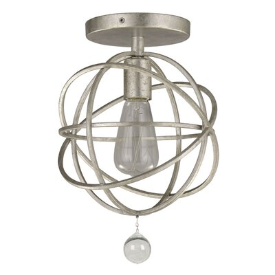 Gregoire�1�Light Semi Flush Mount Finish: Silver