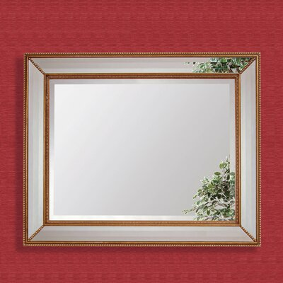 Rectangle Antique Bronze Wood Wall Mirror