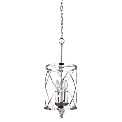 Arik 3-Light Pendant Finish: Brushed Nickel